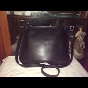 Vintage Coach Leather Saddle Cross Body Bag